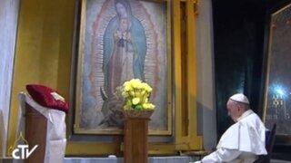 Papa Francisco cumple su sueño de rezar a solas ante la Virgen de Guadalupe