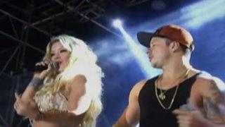 Mario Hart y Leslie Shaw cantaron juntos en evento por el día del amor