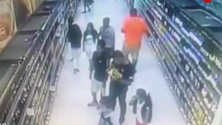 Chilenos fueron detenidos por robar en supermercado de Chimbote