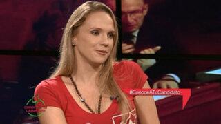 Conoce a tu candidato: Luciana León se quiebra al hablar de su padre y el caso Petroaudios