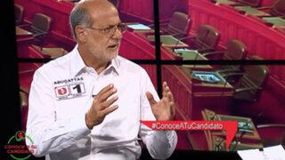 """Daniel Abugattás: """"La pareja presidencial debe hacer una autocrítica"""""""