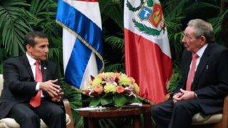 Presidente Humala se reunió con Raúl Castro en Cuba