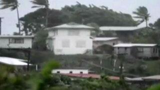 Potente ciclón Winston azota islas de Fiji