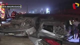 Conductor de colectivo muere en aparatoso choque en Lurín