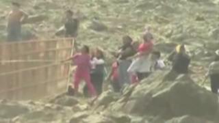 Chosica: violento desalojo en cerro de Carapongo
