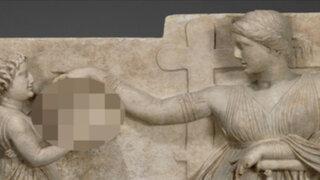 ¿Había laptops en la Antigua Grecia? Esta escultura genera polémica en Internet