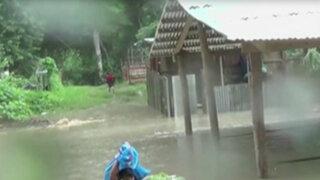 Cusco: viviendas afectadas por desborde de río Urubamba