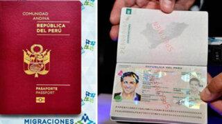 Pasaporte biométrico peruano recibió premio en México por ser infalsificable