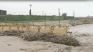 Río Lurín está a punto de desbordarse por fuertes lluvias en el interior del país