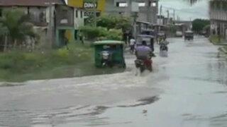 Tumbes: calles inundadas en segundo día de lluvias