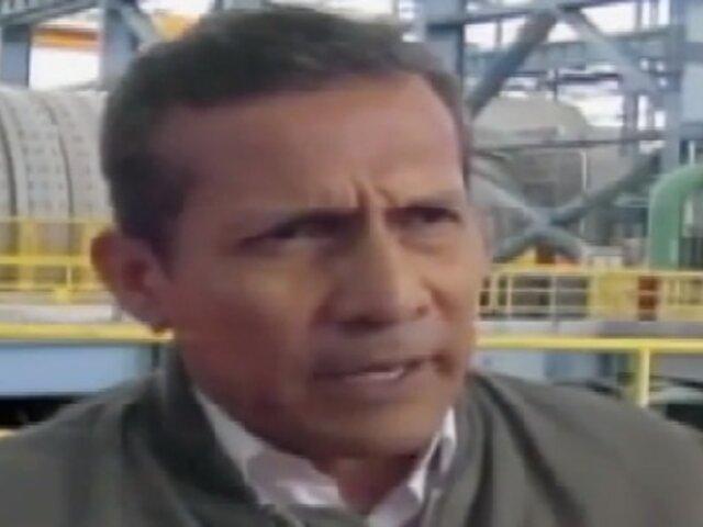 Apurímac: presidente Humala anuncia sanciones para Petroperú