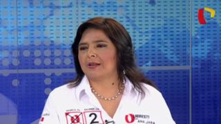"""Ana Jara: """"Guzmán cae en desesperación, todavía está inmaduro para ser presidente"""""""