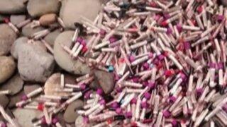 Barranco: encuentran tubos de ensayo con muestras de sangre en playa