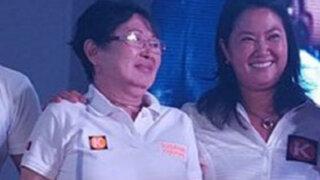 Susana Higuchi participa en marcha y pide que voten por su hija Keiko