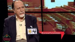 Martín Belaunde Moreyra en contra de la no reelección de congresistas