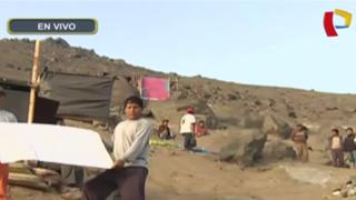 Pobladores invaden terreno en cerro de Santa Anita