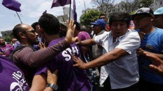 Julio Guzmán: ocupación de plaza San Martín genera enfrentamiento