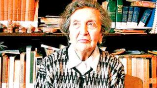 Falleció destacada historiadora peruana María Rostworowski