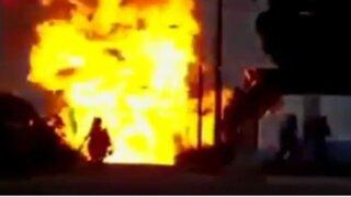 Brasil: explosión de camión de gas dejó más de 12 heridos