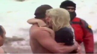 EEUU: Lady Gaga se dio un baño en el lago Michigan