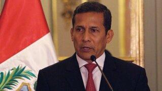 """Ollanta Humala sobre agendas: """"Se está creando una ficción jurídica"""""""