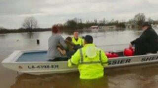 EEUU: miles de personas fueron evacuadas por intensas precipitaciones