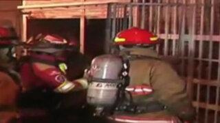 Rímac: incendio afectó mercado de calzado de Caquetá