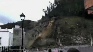 España: grandes deslizamientos de tierra se registran en Vizcaya