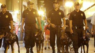Esta es la brigada canina que resguardará seguridad en el Centro de Lima desde el lunes
