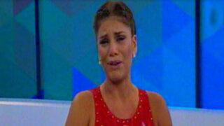 Sandra Arana se quiebra al hablar de filtración de fotos íntimas