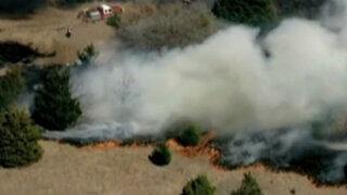 EEUU: gigantesco incendio forestal se registró en Oklahoma
