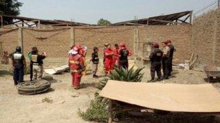 Huachipa: obreros murieron mientras realizaban trabajos de limpieza en pozo