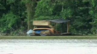 Iquitos: destruyen maquinaria utilizada por mineros ilegales