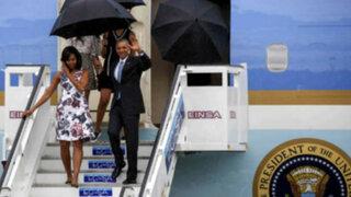 Barack Obama llegó a Cuba en una visita histórica