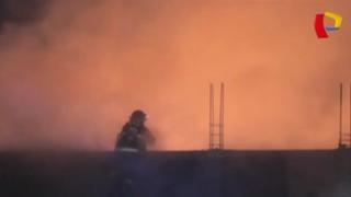 Incendio en almacén de gas genera alarma en Ferreñafe