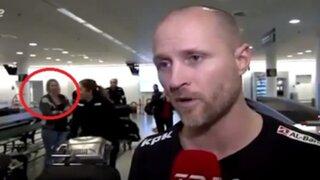 VIDEO: mujer desaparece en plena transmisión en vivo de la televisión danesa