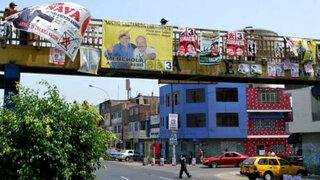 La propaganda electoral ha tomado por asalto las calles de Lima