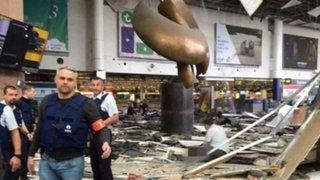 Así quedó el aeropuerto de Bruselas tras atentado terrorista