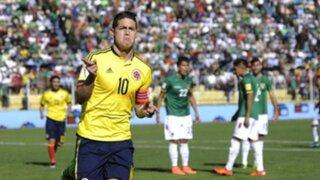 Colombia venció 3-2 a Bolivia en La Paz por las Eliminatorias