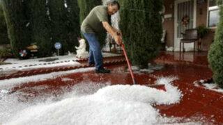 EEUU: tormenta de granizo sorprende a residentes de Texas