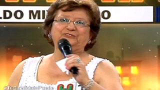 Rosa Mávila cantó huayno ayacuchano en La Batería