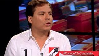 Edmundo del Águila propone fortalecer partidos políticos para mejorar imagen del Congreso