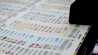 ONPE inicia distribución de cédulas de sufragio