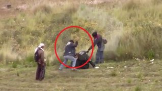 PNP identificará a manifestantes que dieron brutal agresión a suboficial en Huancavelica