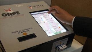 Voto electrónico sí se usará en segunda vuelta