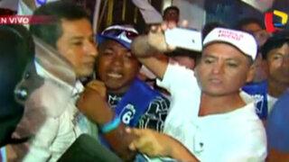 Simpatizantes de Ántero Flores-Aráoz protagonizaron incidentes previo al debate