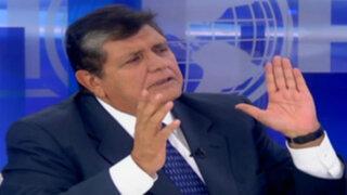 """Alan García sobre Olivera: """"Ha hecho su vida política gracias a mí"""""""