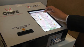 Elecciones 2016: ONPE aplicará el voto electrónico solo en 19 distritos