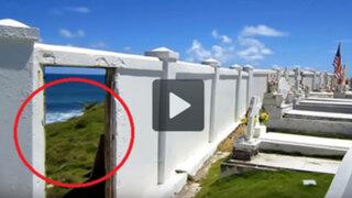 VIDEO: fue a visitar un antiguo cementerio y encontró algo realmente perturbador