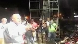 Alfredo Barnechea ofreció mitin de cierre de campaña en Ica
